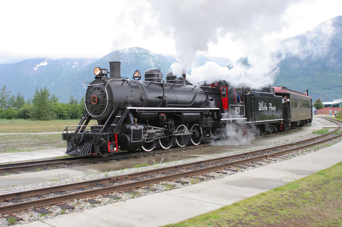 White Pass Railroad  steam engine
